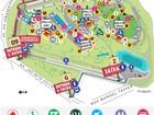 Mapa do Lollapalooza: Veja posição dos palcos, portões e banheiros