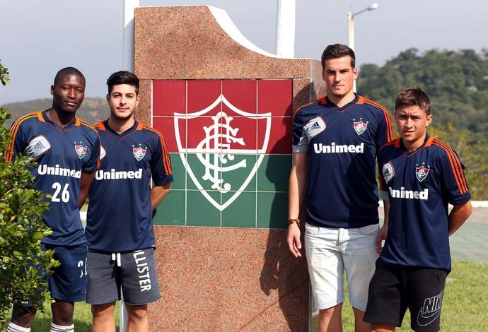 Jogadores estrangeiros Fluminense Xerém especial (Foto: André Durão)