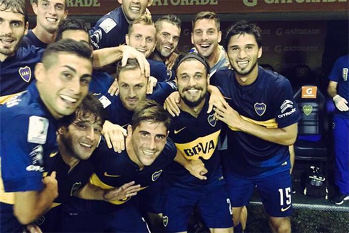 Selfie Boca Juniors  (Foto: Reprodução / Twitter)