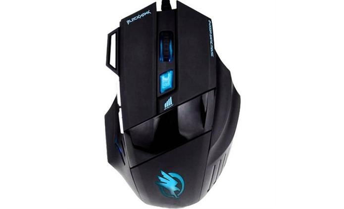Mouse Gamer Black Hawk Om 703 Fortrek vem com sete botões de comandos (Foto: Divulgação/Fortrek)