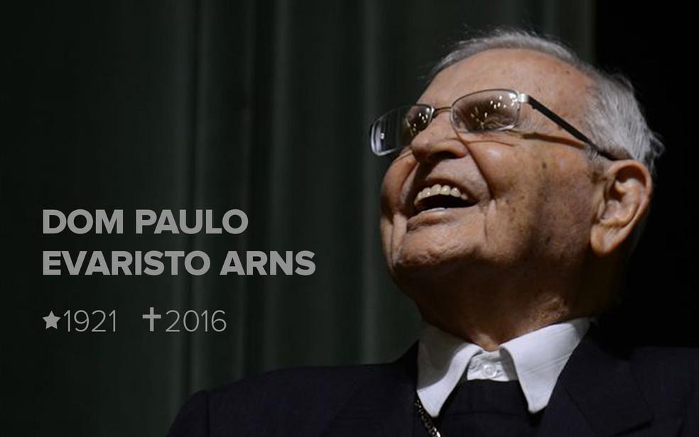 Dom Paulo Evaristo Arns morreu em São Paulo aos 95 anos (Foto: Rovena Rosa/Agência Brasil)