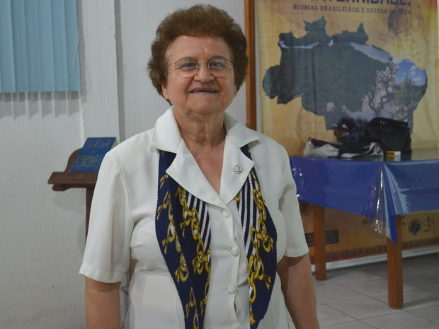 Palestrante Irmã Helena Corazza (Foto: Sara Cicera/G1)