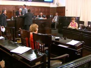 Plenário da Câmara Municipal de São Carlos (Foto: Reprodução/EPTV)