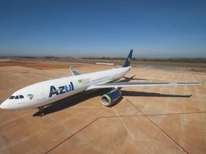 jato A330 da Azul  (Foto: Divulgação/ Azul Linhas Aéreas)