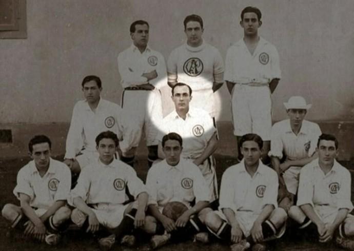 Rubens Salles e a primeira seleção brasileira (Foto: Reprodução/Internet)