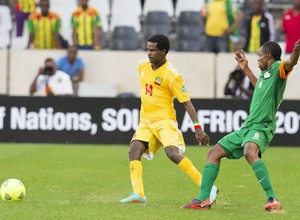 Minyahile Teshome, da Etiopia, escalado irregularmente contra Botsuana (Foto: Gallo Images/Getty Images)