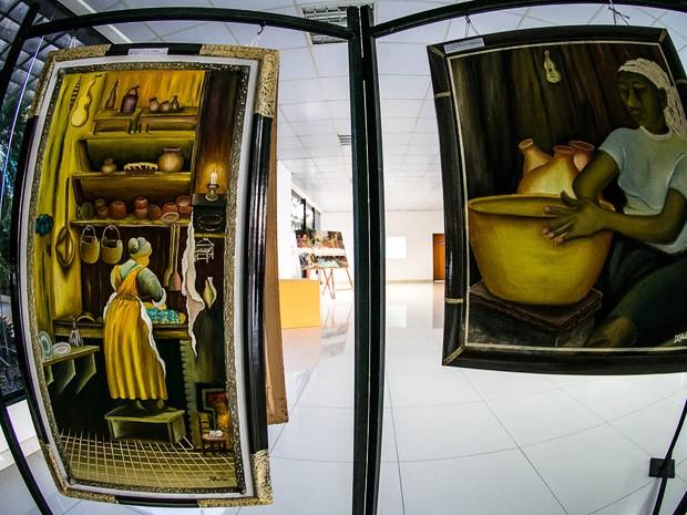 Exposição no hall palácio do governo de Mato Grosso, no Centro Político Administrativo em Cuiabá, vai até o dia 29 de agosto. (Foto: Chico Valdiner / Secom-MT)