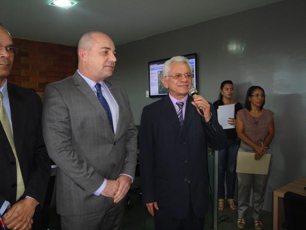 Desembargador Francisco Paes Landim fala dos benefícios do sistema (Foto: Gilcilene Araújo/G1)