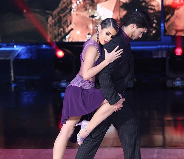 Apresentação de tango foi sensual (Foto: Carol Caminha/Gshow)