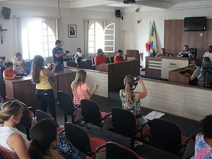 Coletiva câmara municipal São João del Rei (Foto: Assessoria/Divulgação)