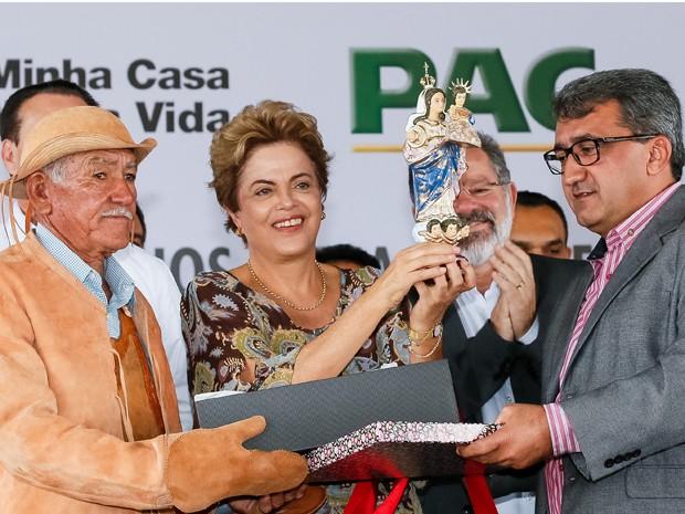 A presidente Dilma Rousseff, durante a cerimônia de entrega de 1.480 unidades do programa Minha Casa, Minha Vida, em Juazeiro (BA) (Foto: Roberto Stuckert Filho/PR)