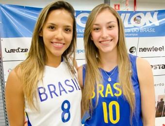 Carol Ribeiro e Estela basquete feminino São José (Foto: Decathlon Brasil Facebook/ Divulgação)