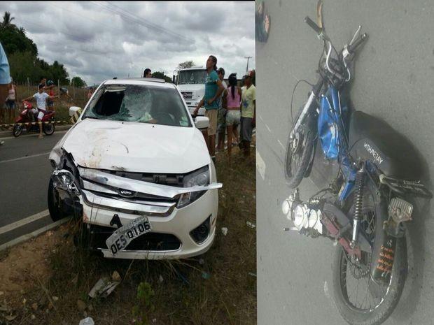 O condutor do veículo saiu ileso.  (Foto: Reprodução/TV Sergipe)