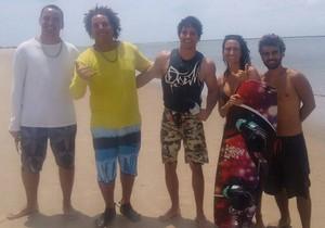 O repórter Brucce Cabral foi conhecer a Praia do Viral (Foto: TV Sergipe)