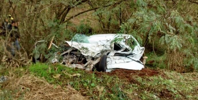 sobrinho de Felipão morre em acidente de carro na BR-285 em Passo Fundo (Foto: Divulgação/Rádio Planalto)