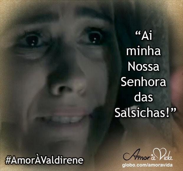 Valdirene apreensiva (Foto: Amor à Vida / TV Globo)