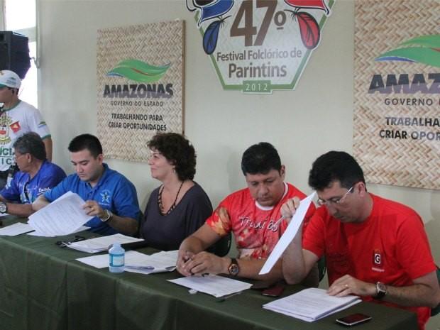 Apuração das notas do Festival Folclórico de Parintins já teve início (Foto: Frank Cunha/G1 AM)