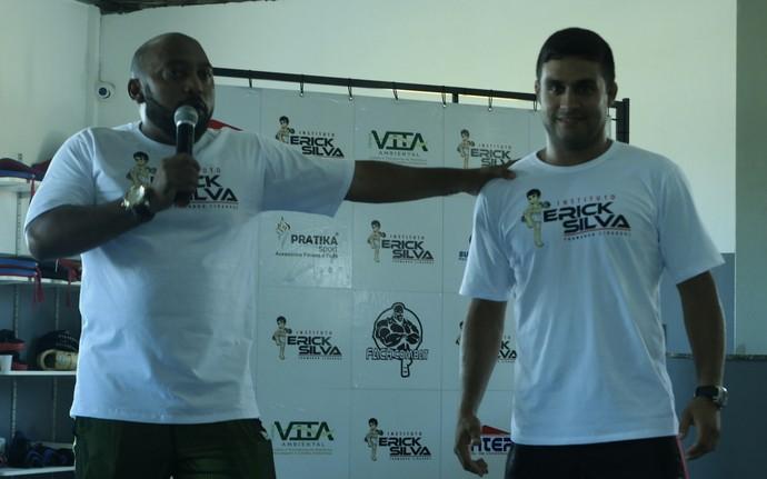 Ex-lutador de MMA Fábio Defendenti é um dos professores do Instituto Erick Silva (Foto: Richard Pinheiro/GloboEsporte.com)