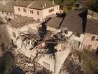 Imagens aéreas mostram estragos provocados por terremoto na Itália