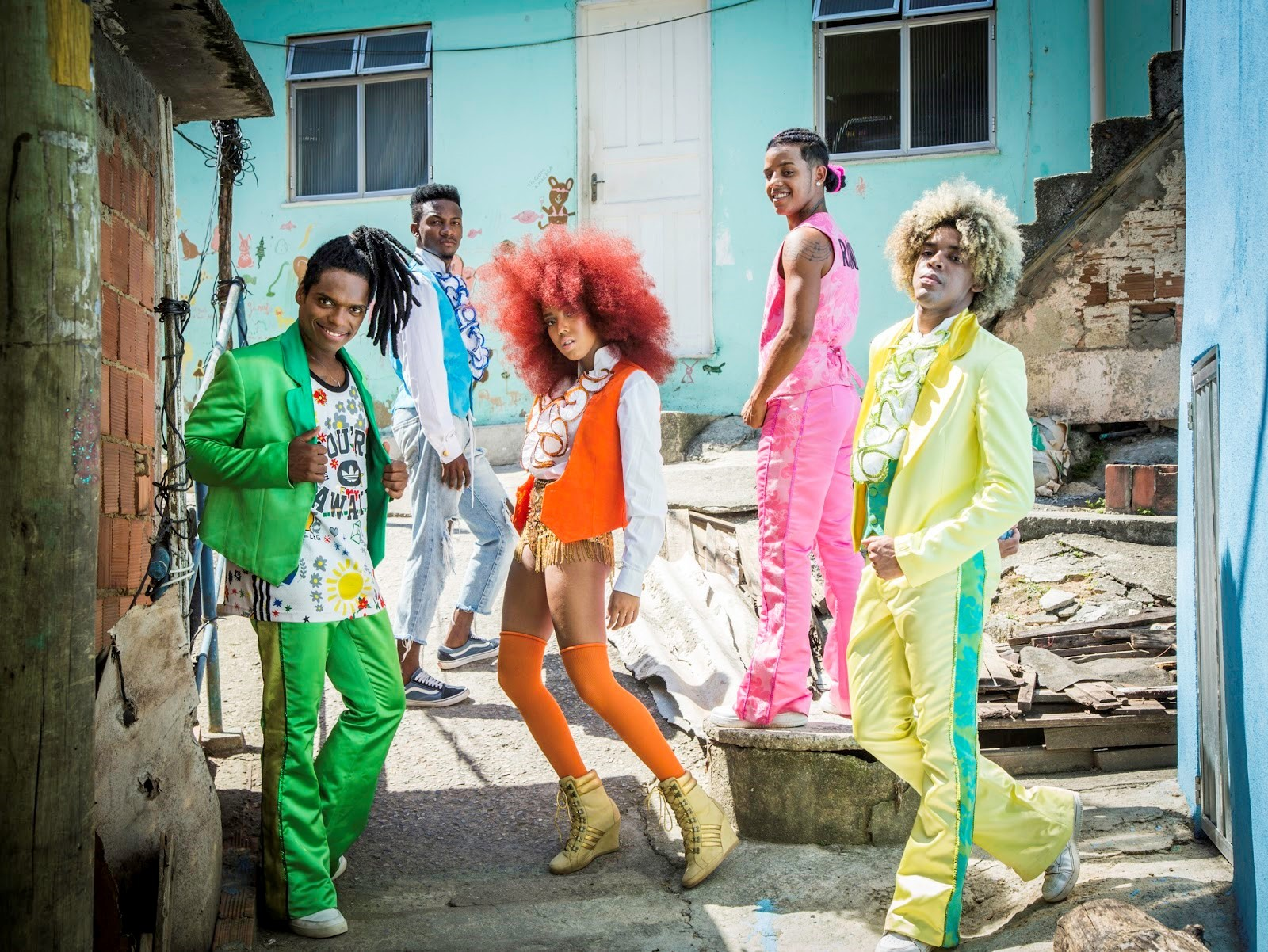 O Dream Team do Passinho faz homenagem ao grupo Jackson 5 (Foto: Divulgao)