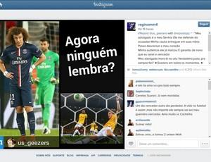 David Luiz Post Regina Célia Instagram (Foto: Reprodução/Instagram)