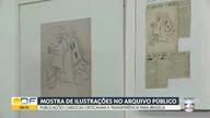 Exposição no Museu Nacional reúne charges que criticavam Brasília