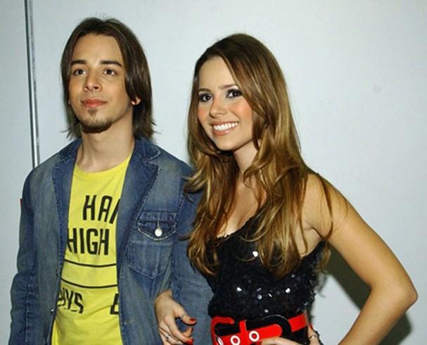 Sandy de cabelos longos e loiros na época da dupla Sandy & Junior, em 2007 (Foto: TV Globo/João Miguel Junior)