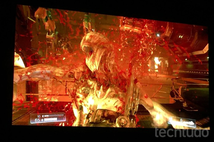 Doom na conferência da Bethesda na E3 2015 (Foto: Viviane Werneck/TechTudo)