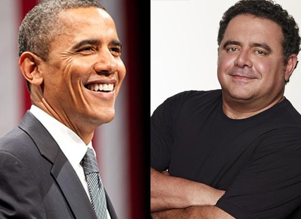 Obama e Leo Jaime (Foto: Reprodução/Facebook)