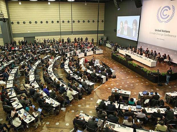 Negociadores se reúnem em Bonn, Alemanha, para produzir esboço de acordo a ser negociado na Cúpula do Clima de Paris (Foto: IISDRS)