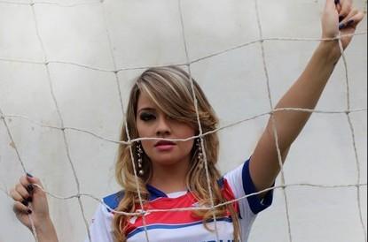 Frida Dietrich, 20 anos, musa do Piauí Esporte Clube  (Foto: Náyra Macêdo/GLOBOESPORTE.COM)