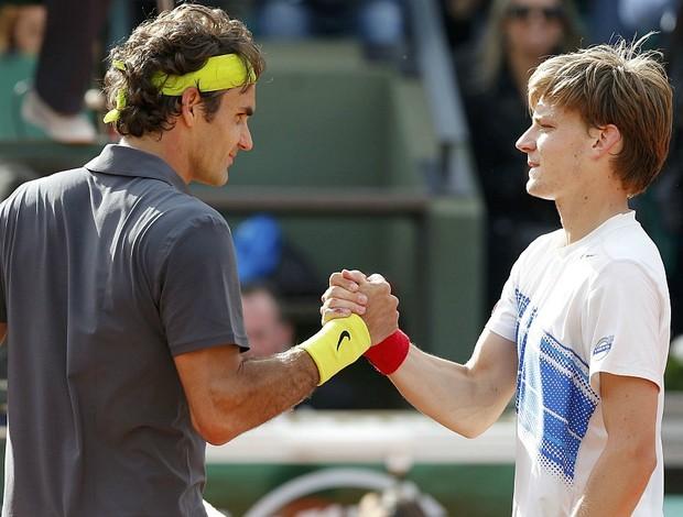 Roger Federer tênis Roland Garros oitavas David Goffin (Foto: Reuters)