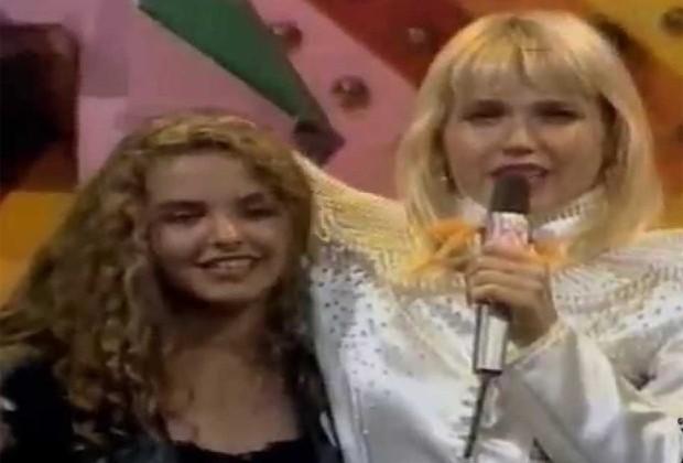 Bianca Rinaldi e Xuxa no programa 'Xou da Xuxa' (1990) (Foto: Reprodução)