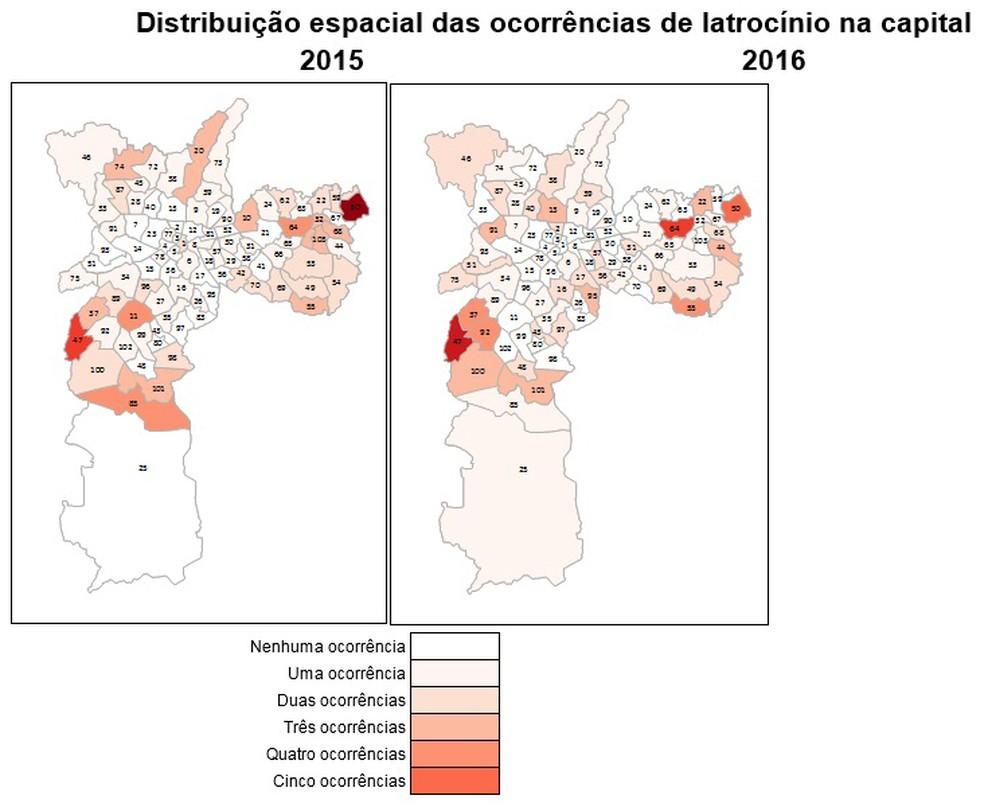 Na Capital, os números do latrocínio variam bastante entre as regiões, com maior incidência nas periferias das zonas Leste e Sul (Foto: Divulgação/Instituto Sou da Paz)