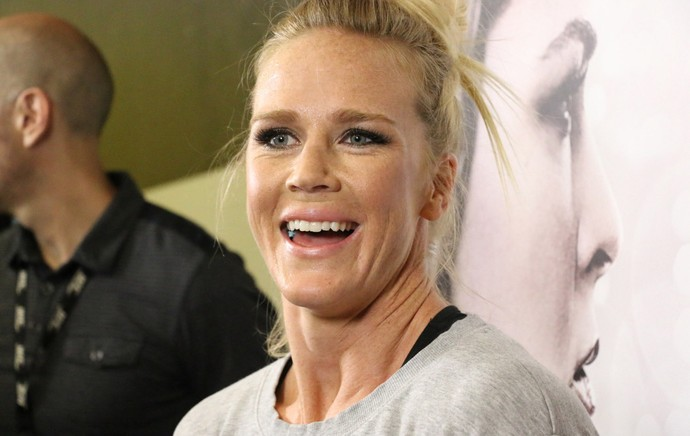 Holly Holm, treino MMA Combate (Foto: Evelyn Rodrigues)