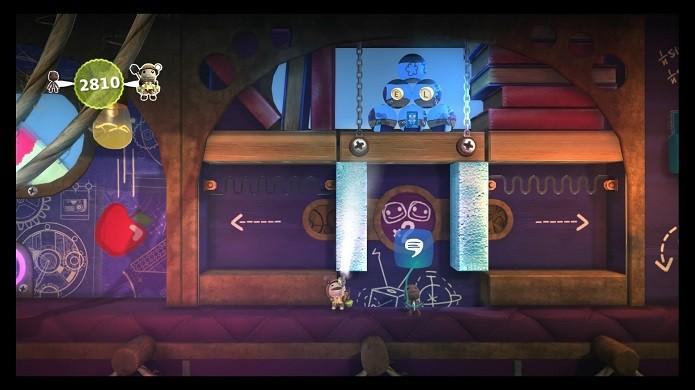 LittleBigPlanet conta com um sistema de criação muito mais rico (Foto: Reprodução/Victor Teixeira)