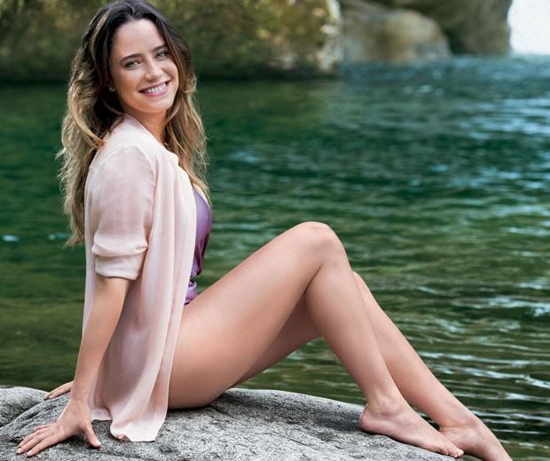 Fernanda Vaconcellos posa para a nova campanha da Veet (Foto: Divulgação)
