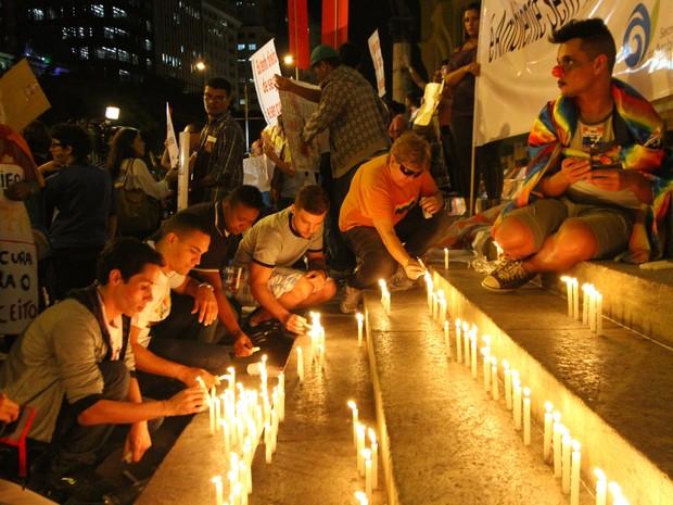 candelaria velas cura gay (Foto: Kátia Carvalho/Estadão Conteúdo)