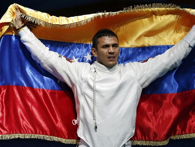 Ruben Limardo Gascon conquista ouro no sabre individual (Foto: Reuters)