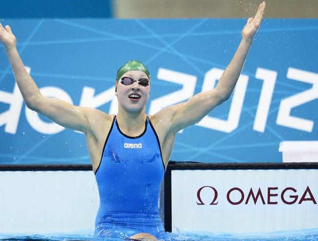 Nadadora Ruta Meilutyte da Lituania (Foto: Agência AFP)