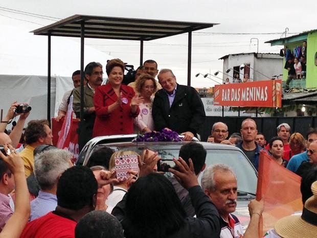 A presidente Dilma Rousseff cumpre agenda de campanha no Rio Grande do Sul no segundo turno (Foto: Estêvão Pires / G1)