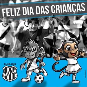 Mascotes Ponte Preta, Dia das Crianças (Foto: Reprodução Facebook)