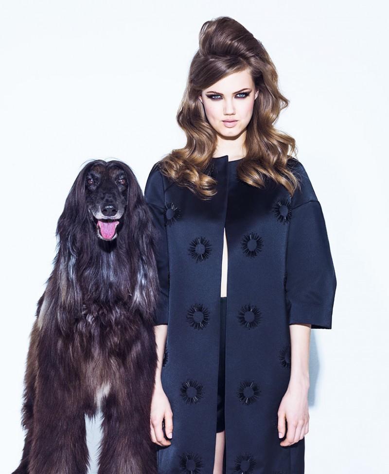 Lindsey Wixson na Vogue Brasil de agosto de 2013 (Foto: Jacques Dequeker)