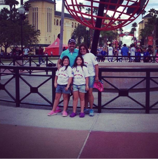 Gugu Liberato e as filhas em Orlando (Foto: Instagram/Reprodução)