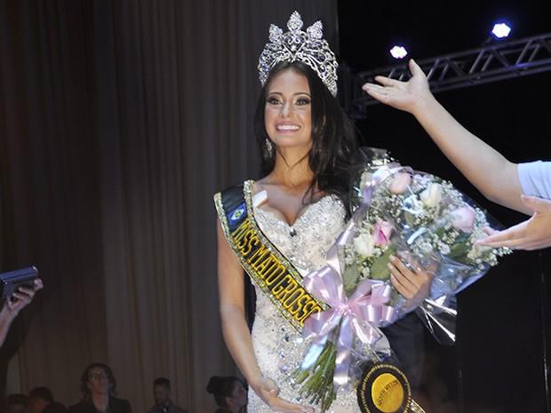 Camila Della Valle Obersteiner foi eleita Miss Mato Grosso 2015. (Foto: Claryssa Amorim/G1)