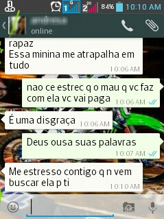 Jovem enviou mensagens ameaçando pai da criança (Foto: Polícia Civil/Divulgação)