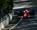 Vettel ignora chuva fina e lidera treino encerrado por batida de Magnussen