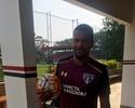 """Breno faz trabalho com bola no CT do São Paulo e vibra: """"Nenhuma restrição"""""""