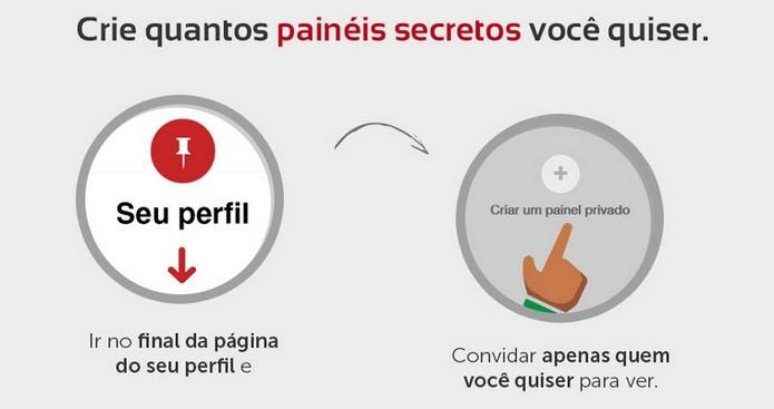 Pinterest permite criar painéis secretos ilimitados (Foto: Divulgação/iInterativa)