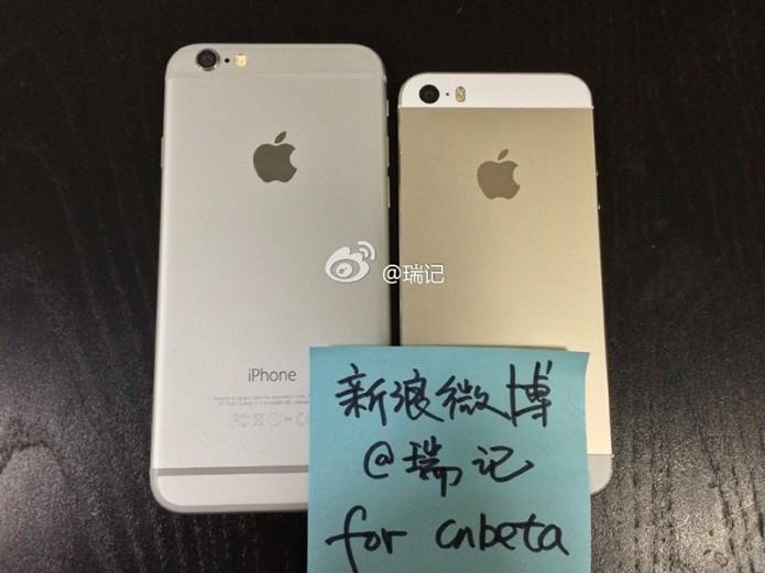 Traseira do suposto iPhone 6 comparada ao iPhone 5S (Foto: Reprodução/9to5Mac)